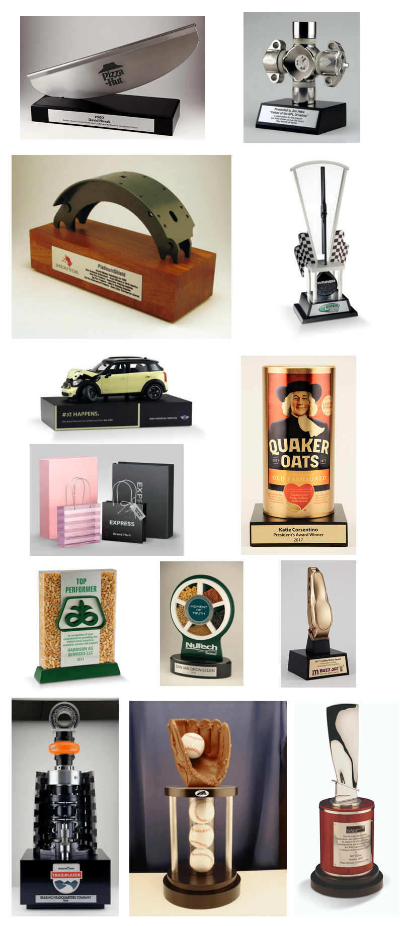 Incorporating Real Products into Awards