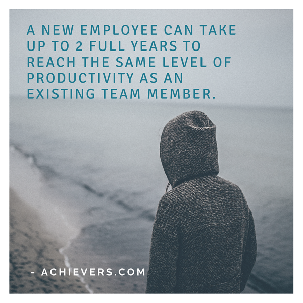 a new employee takes a long time to reach the same level as the previous employee