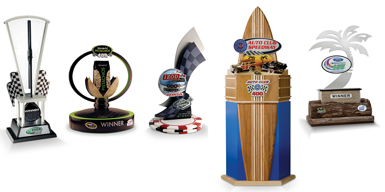 Custom NASCAR and sports trophies