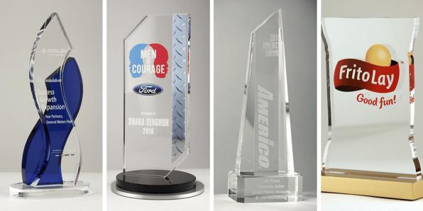 custom glass award ideas