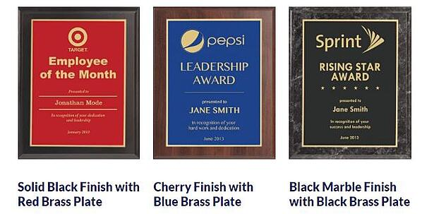 Engraved Value plaques