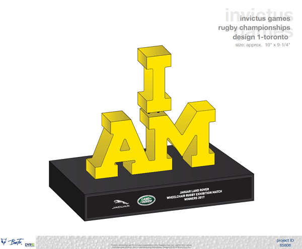 Invictus Games Trophy Final Design