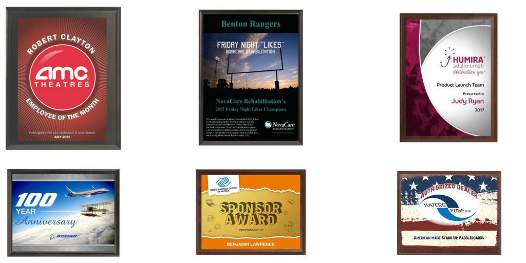 Full Color Value Plaques