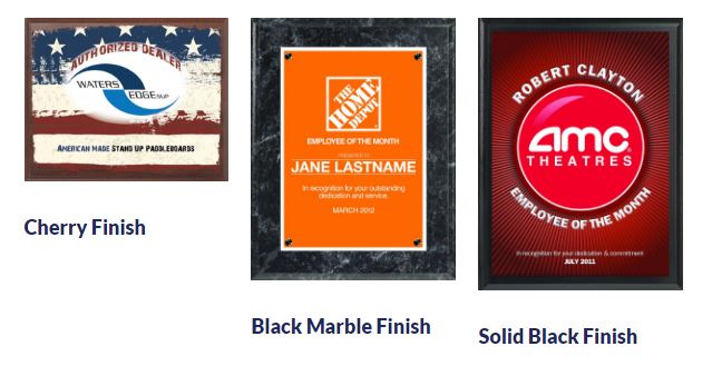 Plaques with Customizable Design: Full Color Value Plaques