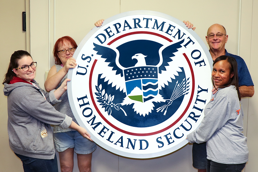 48-inch government seal made by the Bruce Fox, Inc. team
