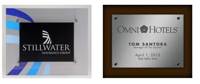 Signature Stand-off Plaques